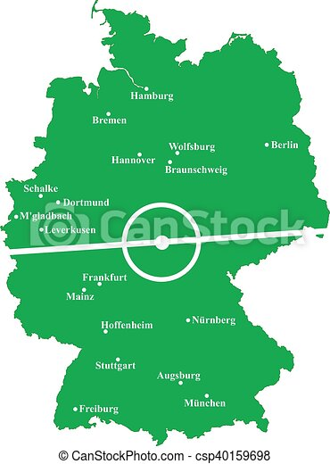Soccer clubs in germany A large and detailed map of germany eps