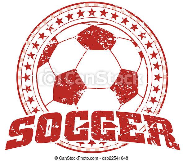 Soccer Design - Vintage - csp22541648