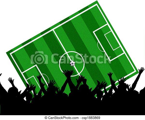 soccer fans background - csp1883869