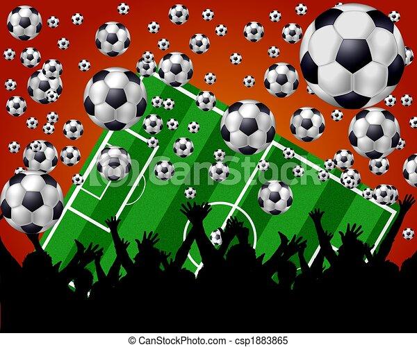 soccer fans background - csp1883865