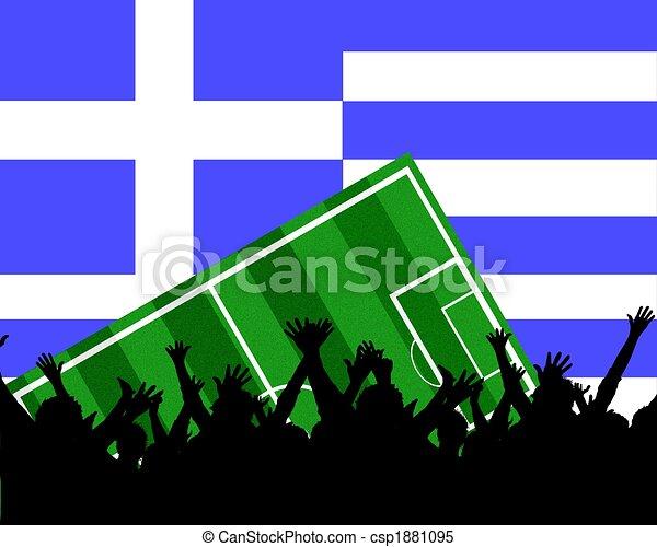 soccer fans greece - csp1881095