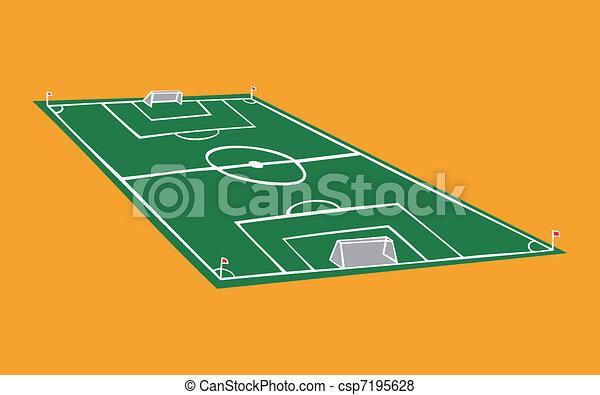 Soccer field illustration - csp7195628