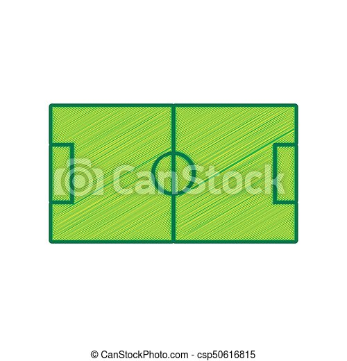soccer field vector lemon scribble icon on white vector clip rh canstockphoto ca soccer field with players clipart