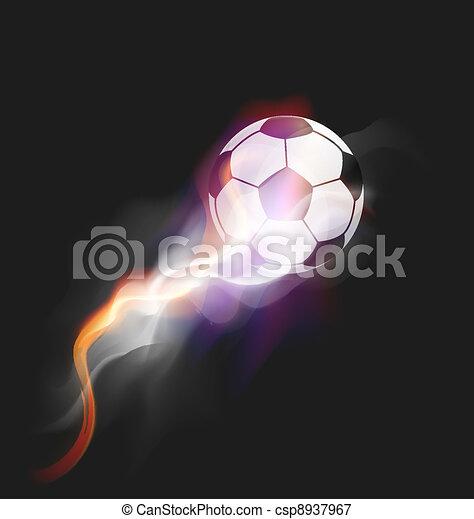 Soccer Fire Ball - csp8937967