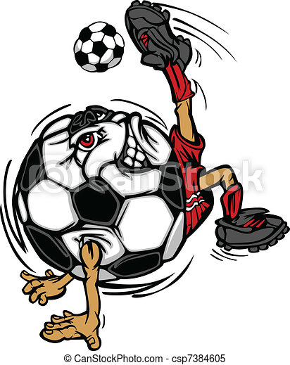 soccer football ball player cartoon cartoon image of a soccer ball