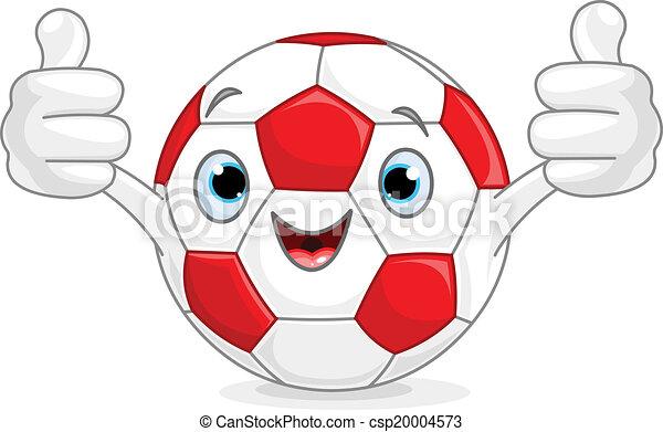 Soccer football character - csp20004573