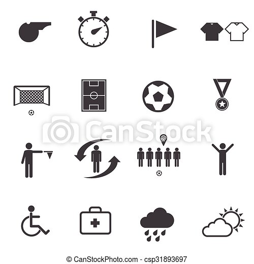 Soccer, Football icons set.   - csp31893697