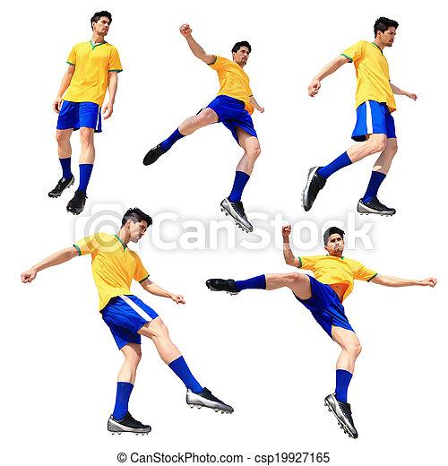 Soccer football player man - csp19927165