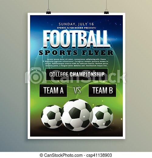 soccer football poster flyer template