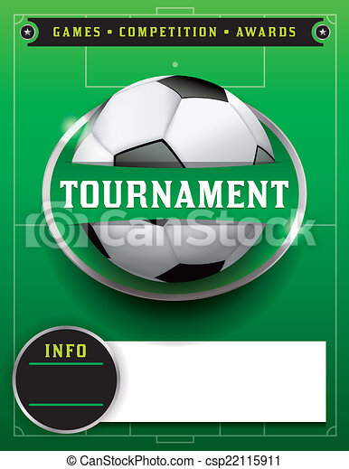 Soccer Football Tournament Template Illustration A Soccer Vector