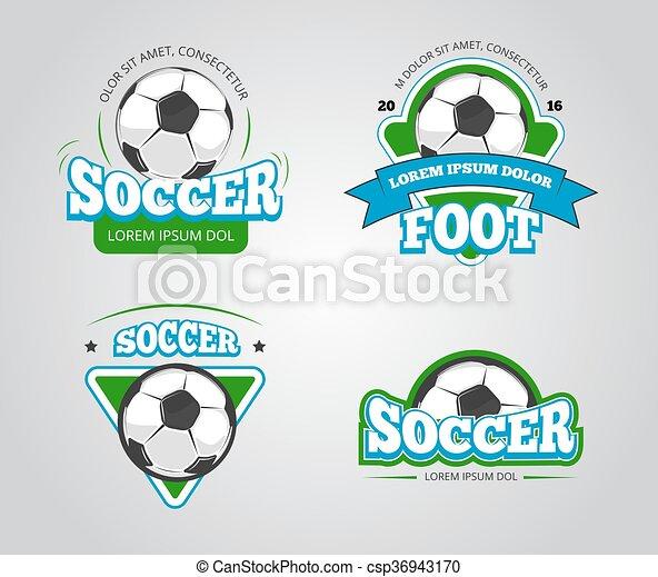Soccer Football Vector Badges, Logos, T Shirt Design Templates