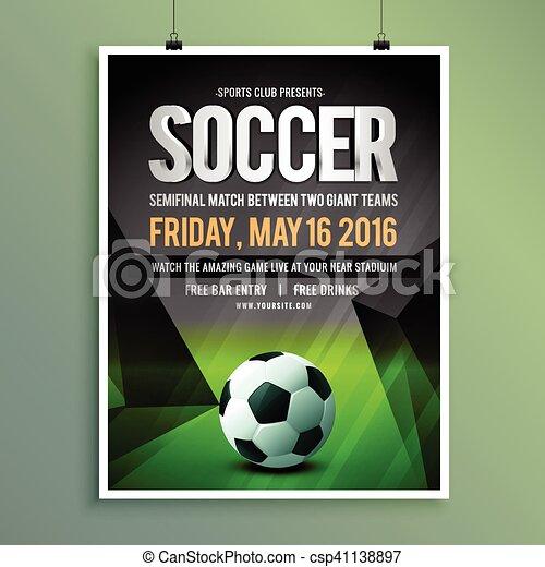 Soccer Game Flyer Template Design