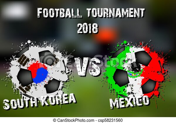 Soccer game South Korea vs Mexico - csp58231560