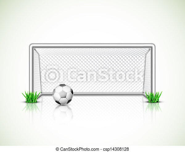 Soccer goal and ball - csp14308128