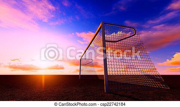 Soccer goal - csp22742184