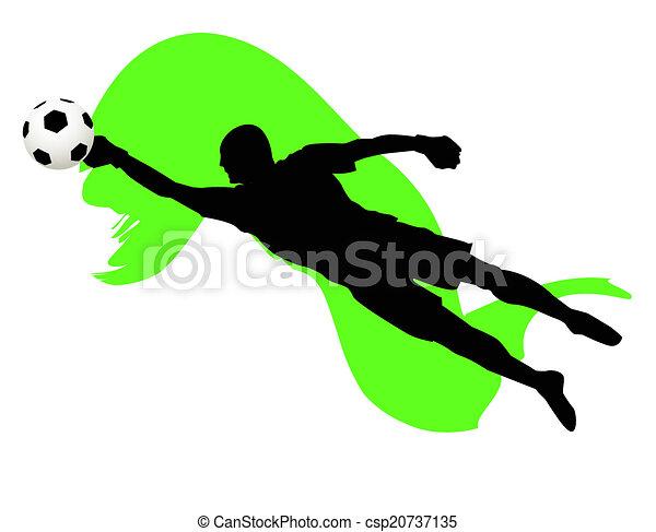 soccer goalkeeper - csp20737135