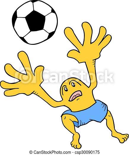 Soccer goalkeeper - csp30090175