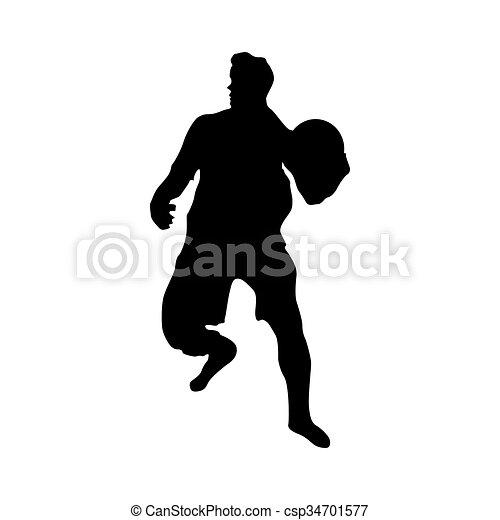 Soccer goalkeeper silhouette - csp34701577