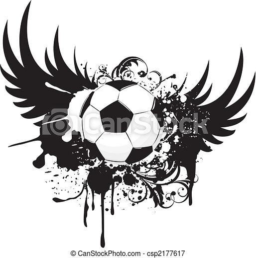 soccer grunge - csp2177617
