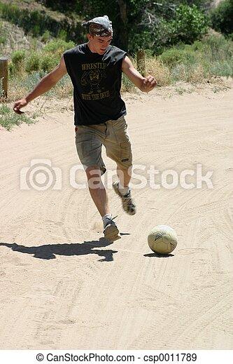 Soccer in Sand - csp0011789