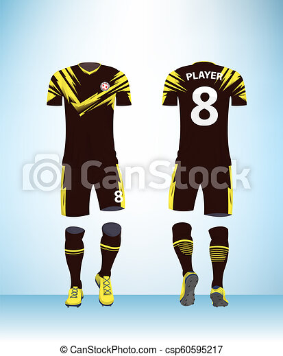 be02e39c16c Soccer Jersey and Football Kit Presentation Mockup Template - csp60595217