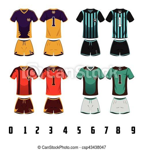 9f8f6d1e8e2 A vector illustration of soccer jersey uniform design.