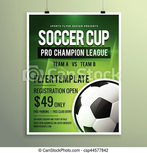 Soccer League Sports Event Flyer Design