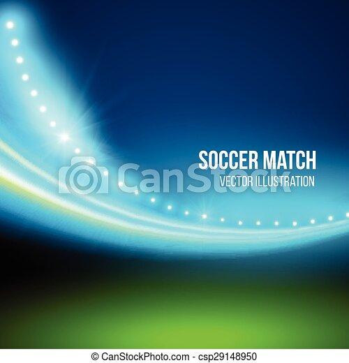 Soccer match, stadium. Vector illustration - csp29148950