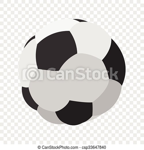 soccer or football cartoon image color icon on transparent background