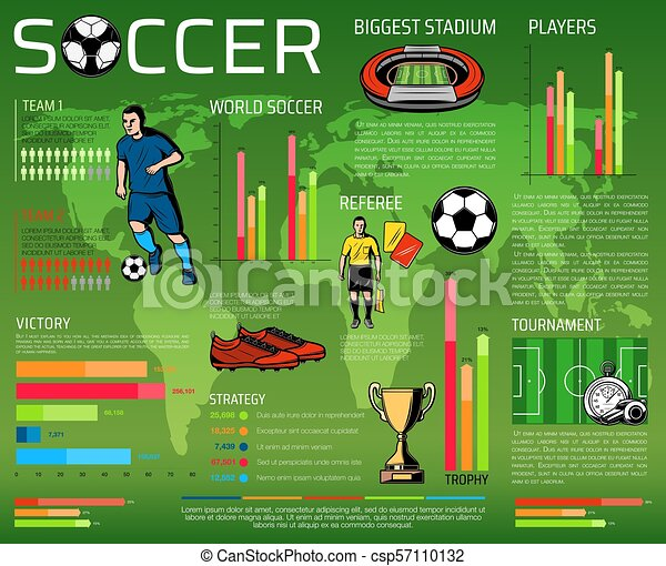 Soccer or football sport competition infographic