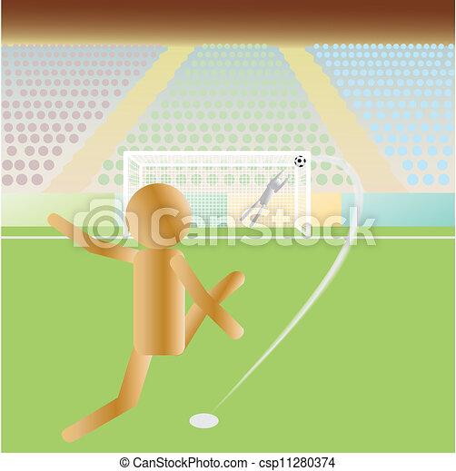 Una patada de fútbol - csp11280374