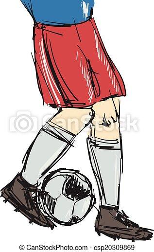 soccer player - csp20309869