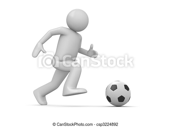 Soccer player - csp3224892