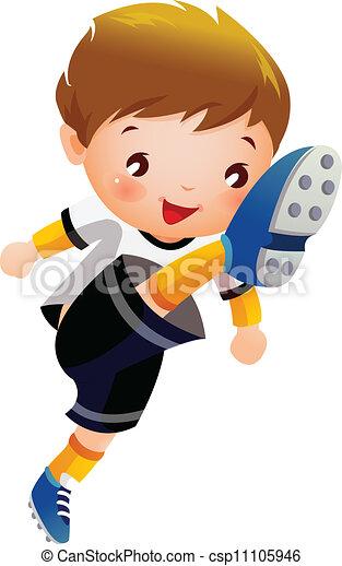 Soccer player - csp11105946