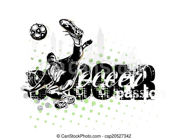 soccer player illustration - csp20527342