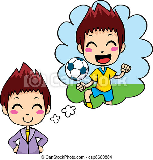 Soccer Player Kid - csp8660884