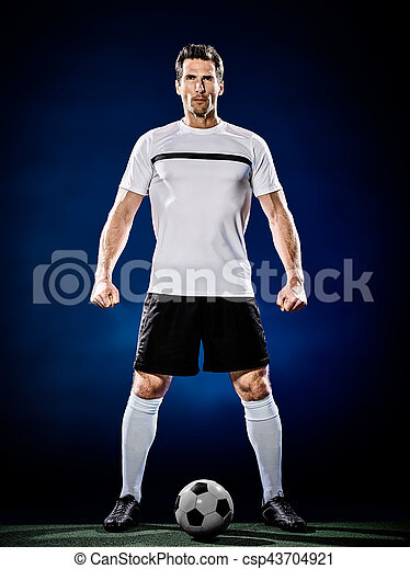 soccer player man isolated - csp43704921