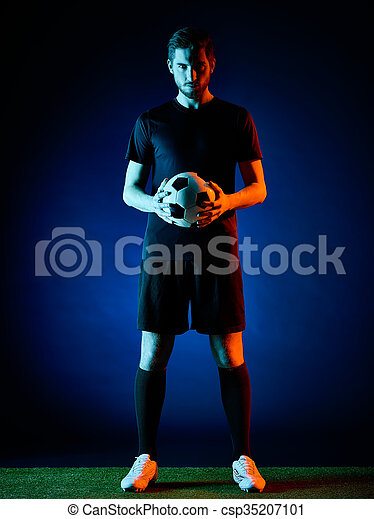 Soccer player Man isolated - csp35207101