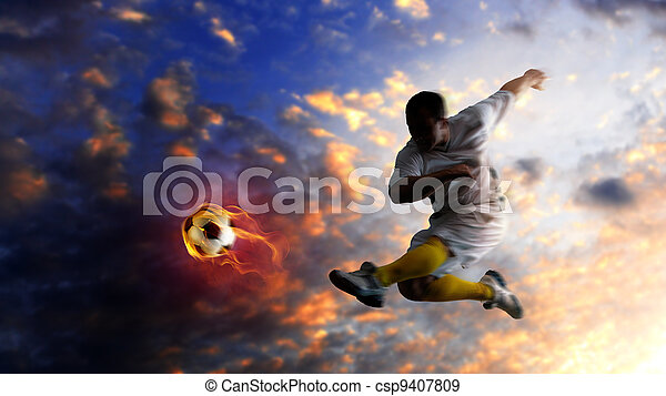 soccer player - csp9407809