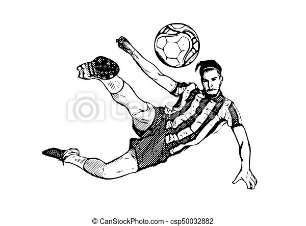 soccer player vector soccer player kicking the ball on white rh canstockphoto com abstract soccer player vector soccer player vector art