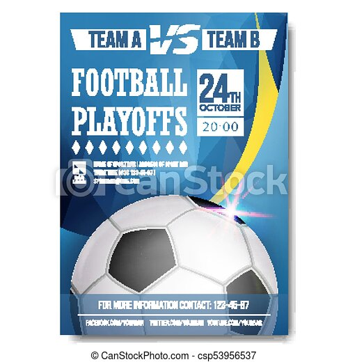 Soccer Poster Vector Design For Sport Bar Promotion Football Ball