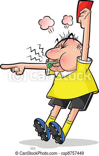 soccer referee - csp8757449