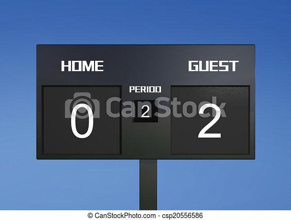 soccer scoreboard score 0 2 soccer match scoreboard display the