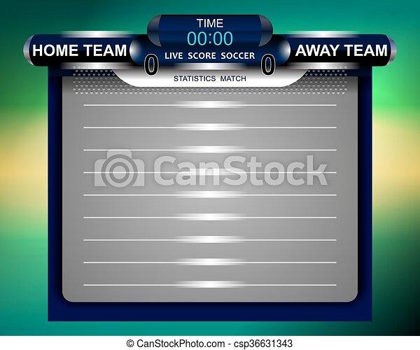 Soccer Scoreboard Statistics Match