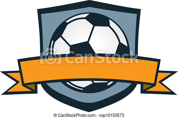 Soccer Team Crest Ball With Blank Banner