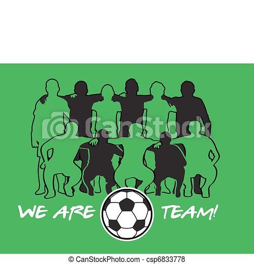soccer team vector