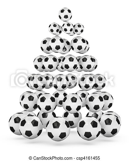 Soccer Themed Christmas Tree