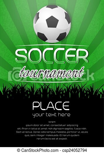Soccer Tournament Poster Background With Ball