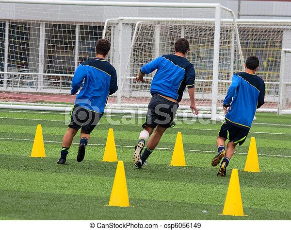 Soccer training - csp6056149