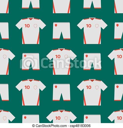 93fc10f7860 Soccer uniform template seamless pattern football club clothing vector  illustration design. player blank t-shirt championship clothes training  fashion kit ...